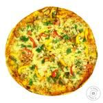 Pizza with meat and bell pepper 500g
