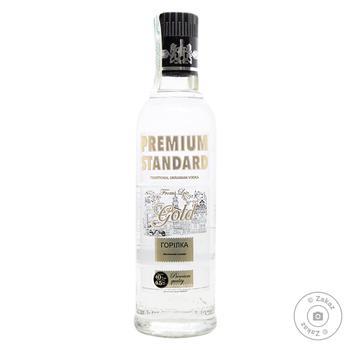 Водка Premium Standart Gold 40% 0.5л