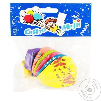 Набор воздушных шаров Свято мрий с рисунком 10'' 6шт