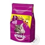 Корм повнораціонний сухий для дорослих котів старше 7 років. З курятиною. Whiskas® 350г