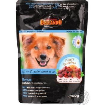 Лакомство для собак Belcando утка с рисом и брусн 300г