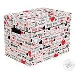 Ящик д/хранения Global-Pak Love картон 34х25х26см шт