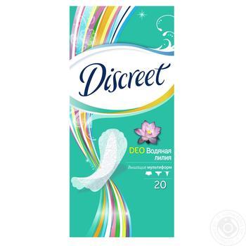 Ежедневные прокладки Discreet Deo Water Lily 20шт - купить, цены на Novus - фото 1