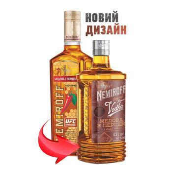 Настоянка Nemiroff Українська Медова з перцем 40% 0,5л - купити, ціни на Novus - фото 3