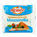 Сыр плавленый President для пиццы 200г