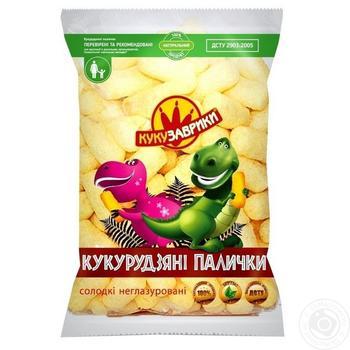 Палочки кукурузные Кукузаврики сладкие неглазированные 80г - купить, цены на МегаМаркет - фото 1