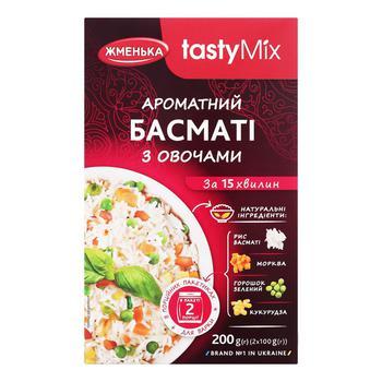 Рис Басматі Жменька з овочами 200г - купити, ціни на CітіМаркет - фото 1