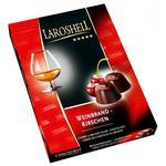 Цукерки Laroshell шоколадні з вишнею та бренді 150г