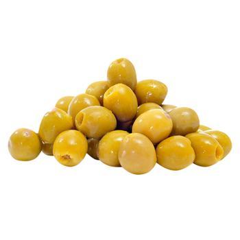Оливки Amalthia Амфіса Джумбо Селянські надрізані в морській солі - купити, ціни на Восторг - фото 1