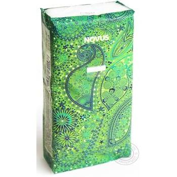 Платочки бумажные Novus носовые не ароматизированные 3-х слойные в ассортименте - купить, цены на Novus - фото 1