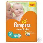 Подгузники Pampers Sleep & Play 3 Midi 6-10кг 78шт