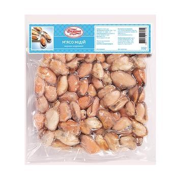 Морепродукты мидии Бажана марка замороженная 350г вакумная упаковка Украина