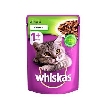 Корм для взрослых котов Whiskas с ягненком в желе 100г - купить, цены на Таврия В - фото 1