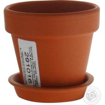 Горшок Стандарт керамический - купить, цены на Ашан - фото 1