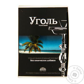 Уголь для кальяна Кокосовый в индивидуальной упаковке 150г - купить, цены на Novus - фото 1