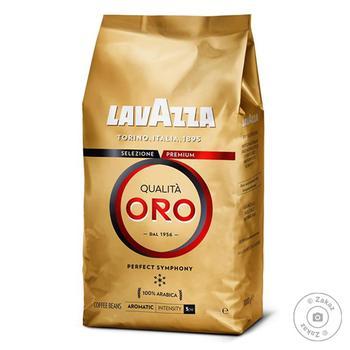 Кофе Lavazza Qualita Oro в зернах 500г - купить, цены на Ашан - фото 1