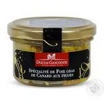 Pate Ducs de gascogne liver with fig canned 80g glass jar France