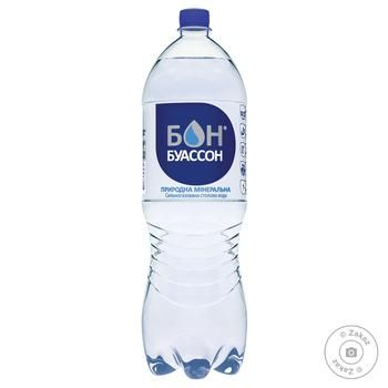 Вода Бон Буассон сильногазированная 2л - купить, цены на Novus - фото 1