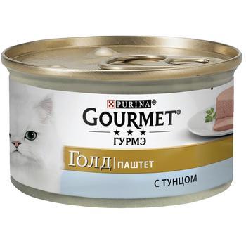 Корм GOURMET Gold Паштет С тунцом для взрослых кошек 85г