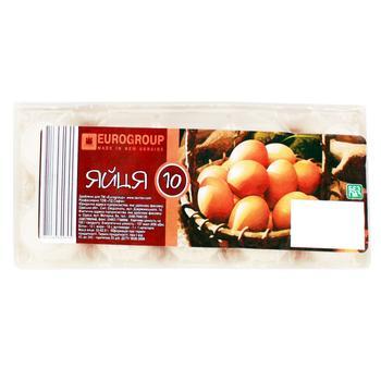 Яйца куриные Eurogroup 10шт - купить, цены на Таврия В - фото 1