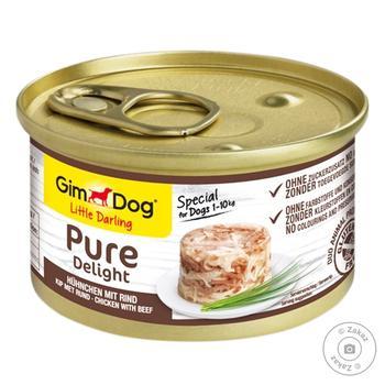 Корм для собак Gim Dog Курка та яловичина 85г - купити, ціни на Восторг - фото 1