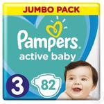 Подгузники Pampers Active Baby-Dry 3 Midi 5-9кг 82шт