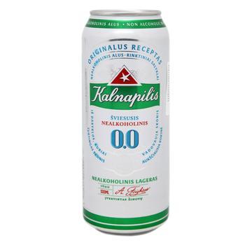 Пиво Калнапіліс 0.0% безалкогольне світле 0,5л - купити, ціни на МегаМаркет - фото 1