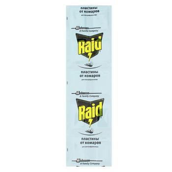 Пластины для фумигатора Raid от комаров 10шт - купить, цены на Novus - фото 1