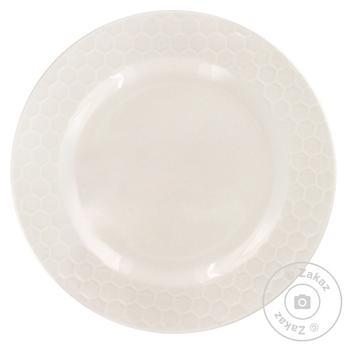 Тарілка із порцеляни біла малюнок 3D Koopman 20см - купить, цены на Novus - фото 1