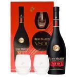 Коньяк Remi Martin V.S.О.Р. 0.7л 40% + 2 стакана