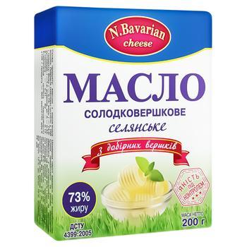 Масло N.Bavarian Cheese Крестьянское 73% 200г - купить, цены на Varus - фото 1