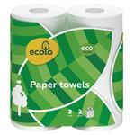 Полотенца бумажные Ecolo двухслойные 2шт