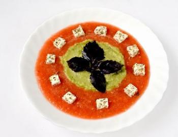 Овочевий суп-смузі з бринзою