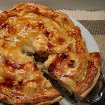 пирог с лесными грибами рецепт с фото