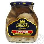 Mushrooms milk mushroom Mikado pickled 530g glass jar Germany