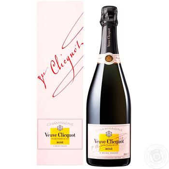 Шампанське Veuve Clicquot Rose рожеве брют 12,5% 0,75л - купити, ціни на Novus - фото 2