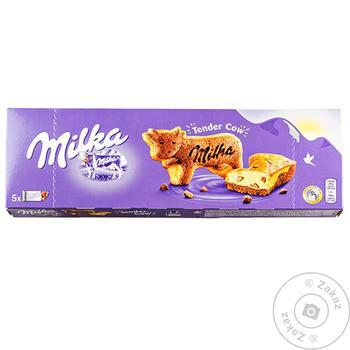 Тістечко Milka зі шматочками молчного шоколаду 140г - купити, ціни на МегаМаркет - фото 1
