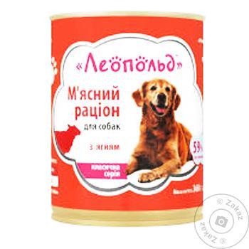 Корм Леопольд с ягненком для собак 360г