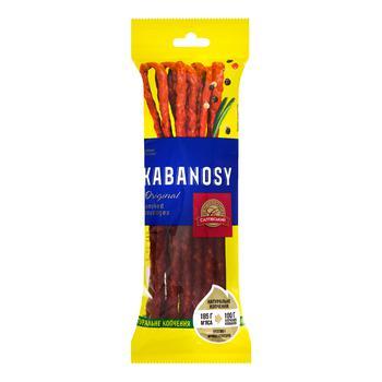 Колбаски Салтовский мясокомбинат Kabanosy Original копченые из свинины 100г