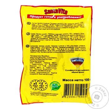 Банан сушеный Santa Vita 100г - купить, цены на Таврия В - фото 2