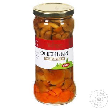 Опята Українська Зірка маринованные закусочные 350г