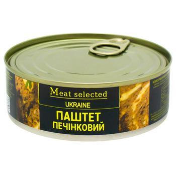 Паштет Meat Selected Класичний печінковий 240г - купити, ціни на CітіМаркет - фото 1