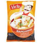 Вареники Varto з картоплею та грибами заморожені 900г