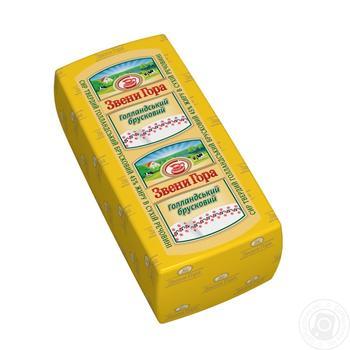 Сыр Звени Гора Голландский брусковый твердый головка 45% - купить, цены на Метро - фото 1
