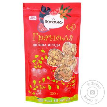 Гранола Кохана Лесная ягода 300г - купить, цены на Фуршет - фото 1