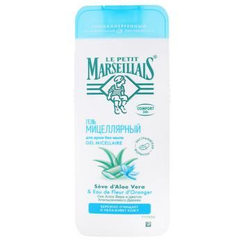 Le Petit Marseillais Micellar Shower Gel with Aloe Vera and Orange Blossom 400ml - buy, prices for EKO Market - photo 1