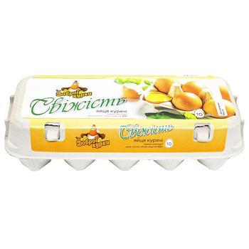 Vid Dobroy Kurky Freshness C1 Chicken Eggs 10pcs - buy, prices for Auchan - photo 1