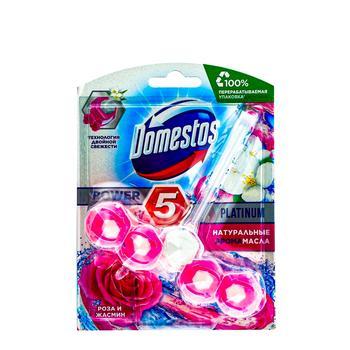 Блок для унітазу Domestos Power 5 Троянда і Жасмин 55г - купити, ціни на ЕКО Маркет - фото 1