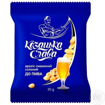 Арахис Казацкая Слава К пиву соленый жареный 30г - купить, цены на Фуршет - фото 2