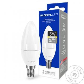 Лампа светодиодная Global 5W Е14 - купить, цены на Novus - фото 1